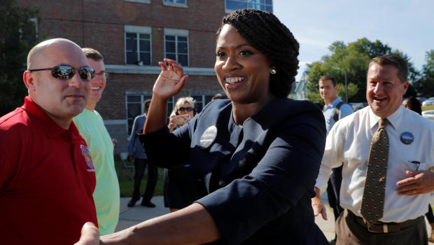 watch b0dcc 5fe33 By Grace Segers CBS News September 4, 2018, 10 14 PM Ayanna Pressley  defeats Dem Rep. Michael Capuano in upset primary victory
